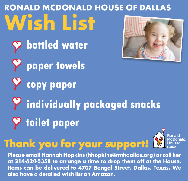 Wish List - Ronald McDonald House of Dallas