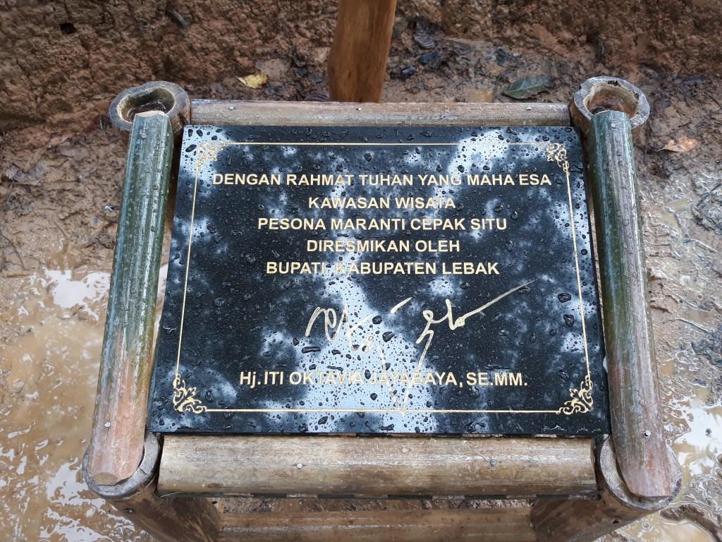 Pesona Meranti diresmikan oleh Bupati Lebak Hj. Iti Oktavia Jayabaya, SE.MM dalam acara Festival Hutan Adat, Sabtu,16/12 (Foto/Tya)