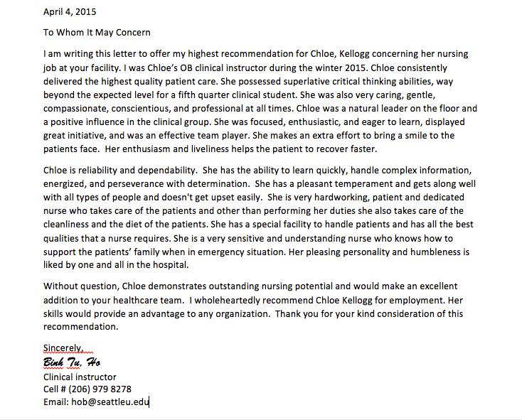 Preceptor Letter Of Recommendation Stark Houseofstrauss Co