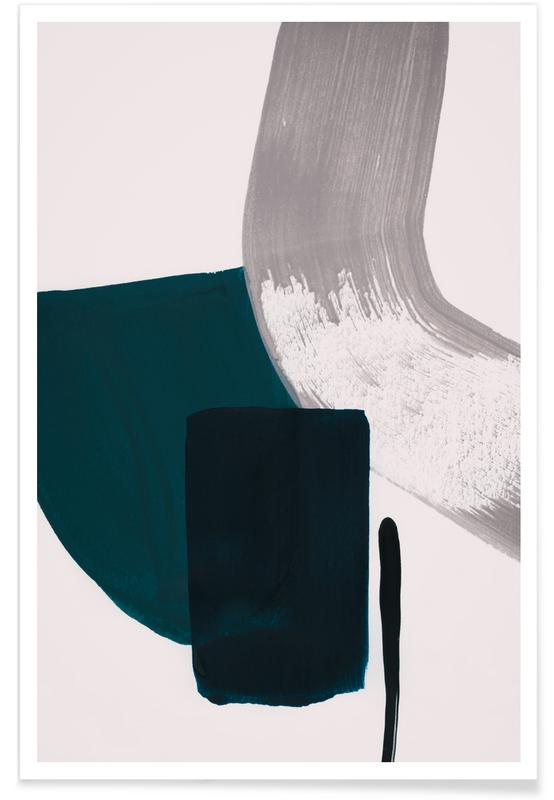 Painting Picture Frames With Acrylic Minimalism Teal And Grey Poster | Juniqe Uk
