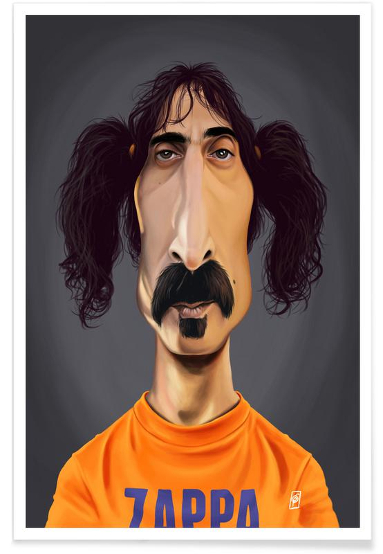 Honeymoon Bettwäsche Frank Zappa-karikatur Poster | Juniqe