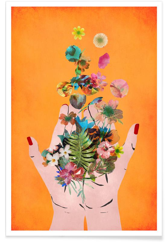 Junique De Frida's Hands Als Poster Von Treechild | Juniqe