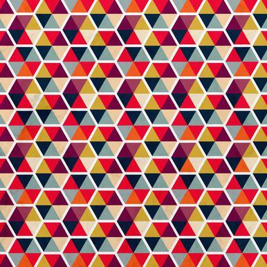 Colorful Umbrellas Geometric Pattern as Poster JUNIQE