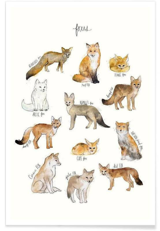 Junique De Foxes Als Premium Poster Von Amy Hamilton | Juniqe