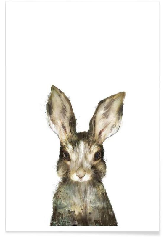 Juniqe Bilder Little Rabbit As Premium Poster By Amy Hamilton | Juniqe