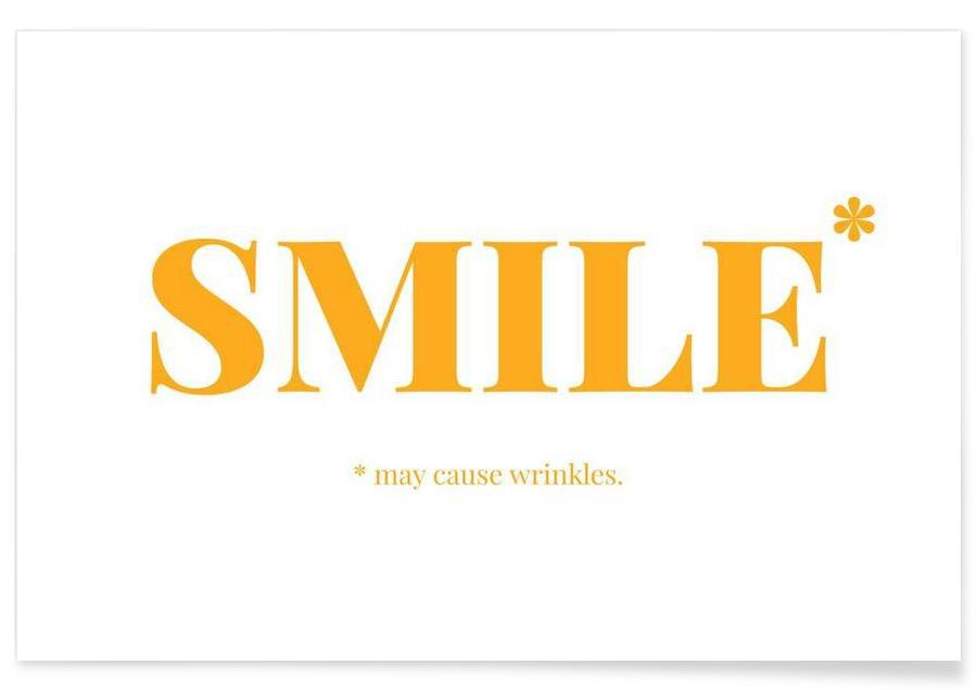 Juniqe Alu Dibond Smile As Premium Poster By Chris Wharton | Juniqe