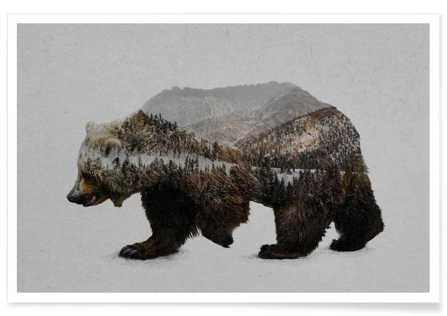 Junique De The Kodiak Brown Bear Als Premium Poster Von Davies Babies