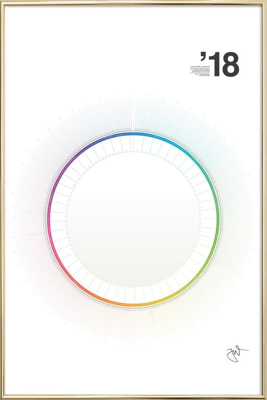Circular Calendar 2018 as Poster in Aluminium Frame JUNIQE - circular calendar