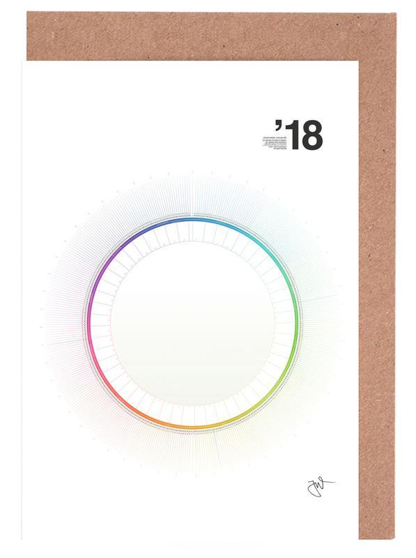 Circular Calendar 2018 as Greeting Card Set by Jonas Wyssen JUNIQE - circular calendar