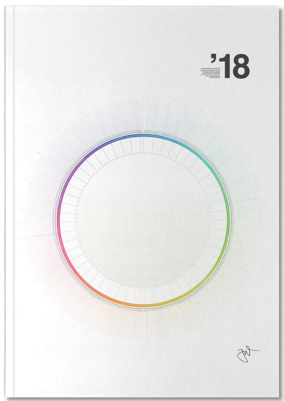 Circular Calendar 2018 as Premium Notebook by Jonas Wyssen JUNIQE - circular calendar