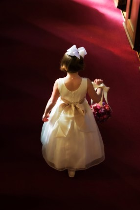 Flower Girl Down Aisle
