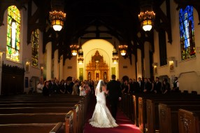 Bride & Dad Down Aisle