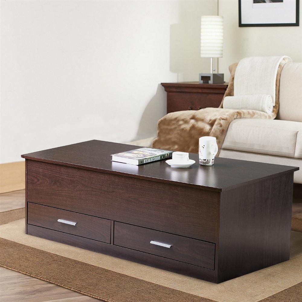 Modern Coffee Table With Storage Wooden Table With Drawer M0264