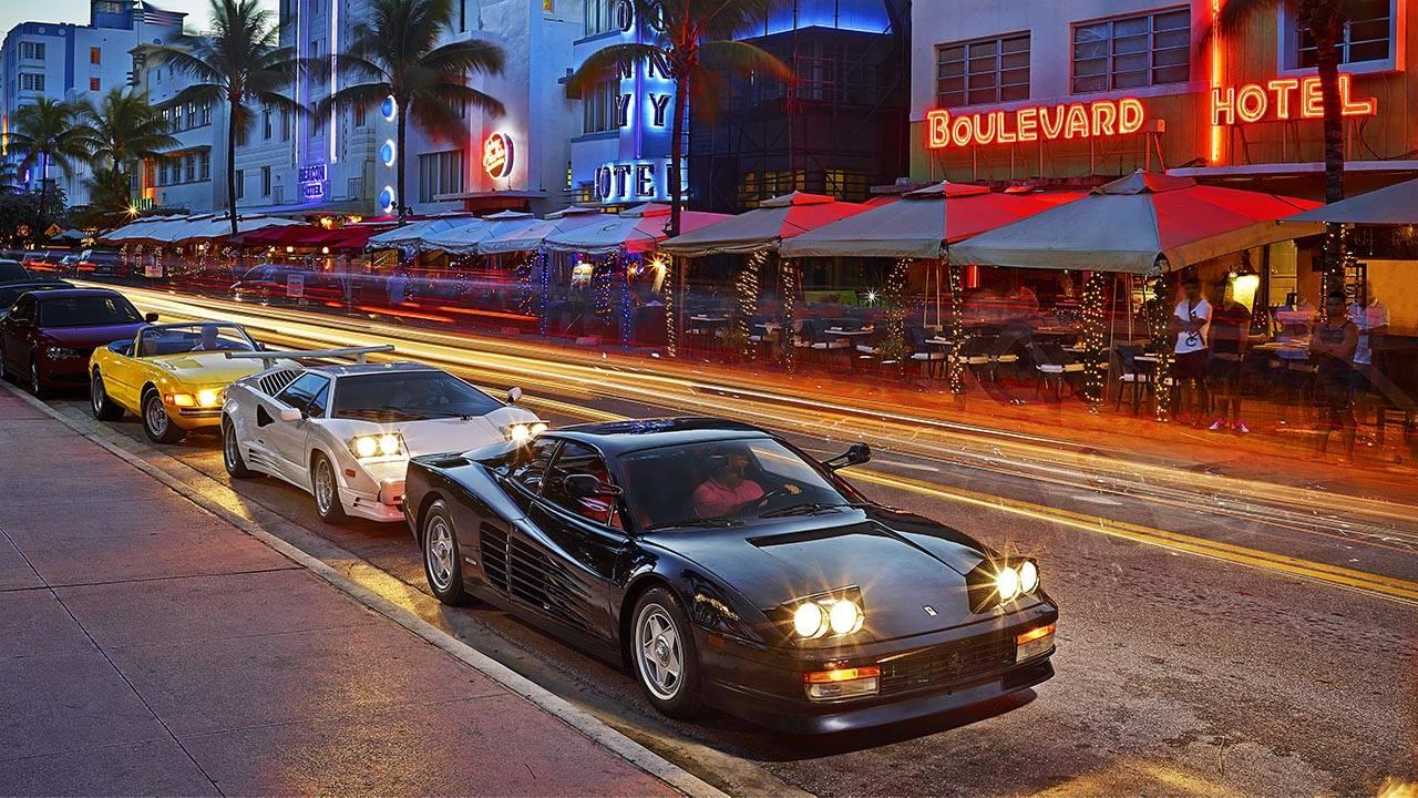 Car Curvy Road Wallpaper Miami Vice Driving The Era S Exotics 30 Years Later