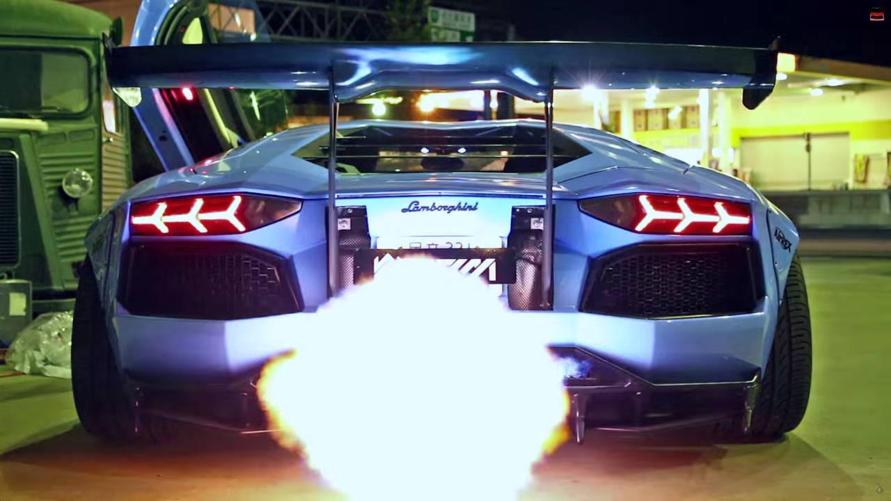 Paul Walker Blue Car Wallpaper Video Fire Breathing Lamborghini Aventador By Liberty Walk