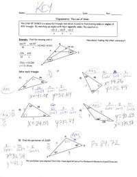 Printables. Law Of Sines Worksheet. Lemonlilyfestival
