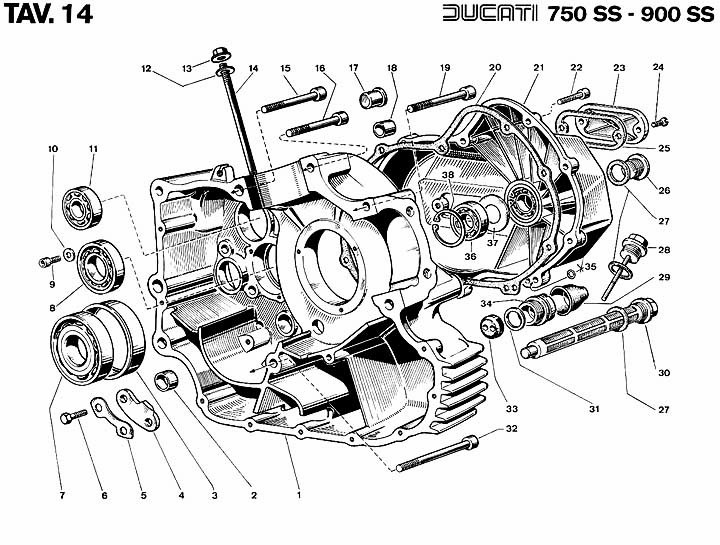 ss motorcycle engine diagram