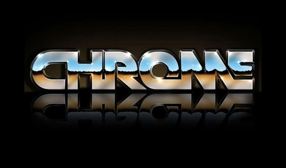 Retro 80\u0027s Inspired Reflective Chrome Text Effect in Photoshop
