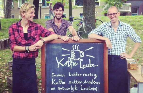 The Dutch trio, giving coffee power back to the people