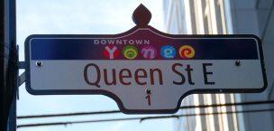 Queen Street East sign
