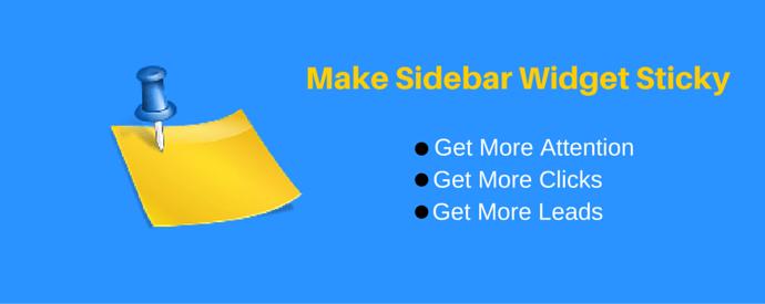 Make WordPress Sidebar Widget Sticky
