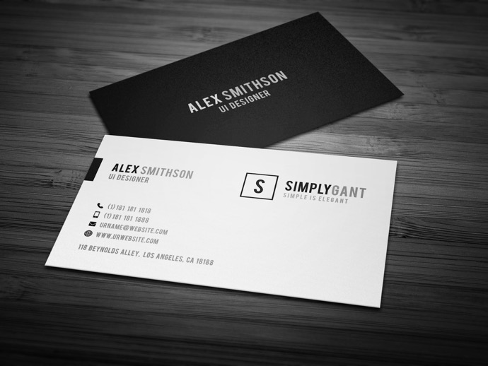 30+ Simple  Minimal Business Card Templates For 2018