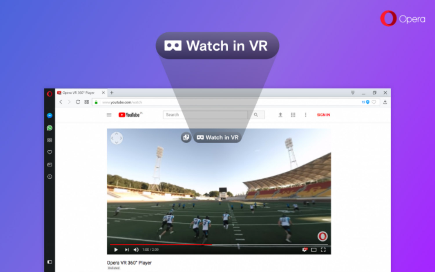 Browser Opera Opera Browser Adds 360 Video Player For Vr Headsets Plans Full
