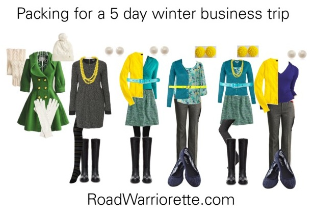 What to pack for a 5-day business trip Winter - Road Warriorette