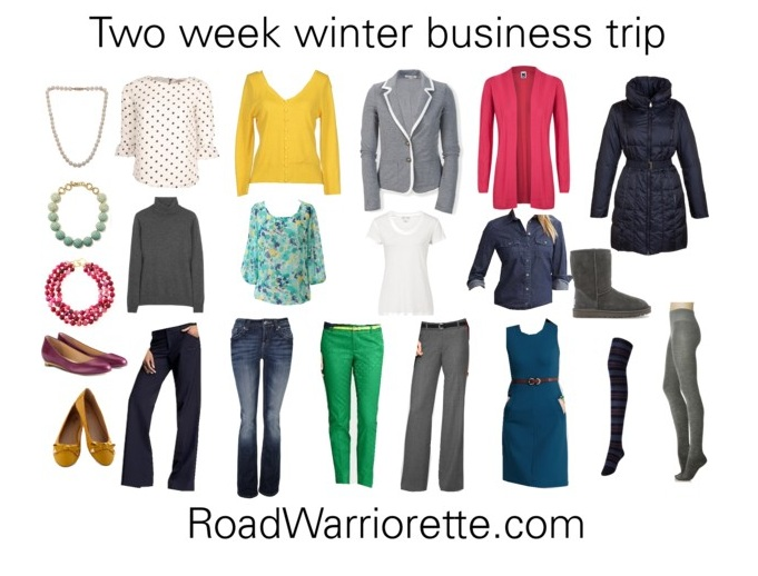 Packing for 2 weeks winter - Road Warriorette - Business Trip Packing List