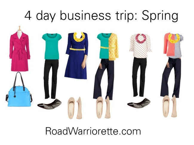 Packing list for a four day business trip Spring - Road Warriorette - Business Trip Packing List