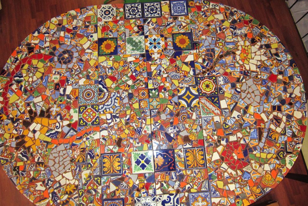 Diy Mosaic Table Part 2 Roamingartist39s Blog