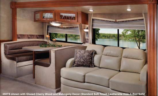 Theater With Sofa Seats 2010 Forest River Georgetown Class A Motorhome - Roaming Times