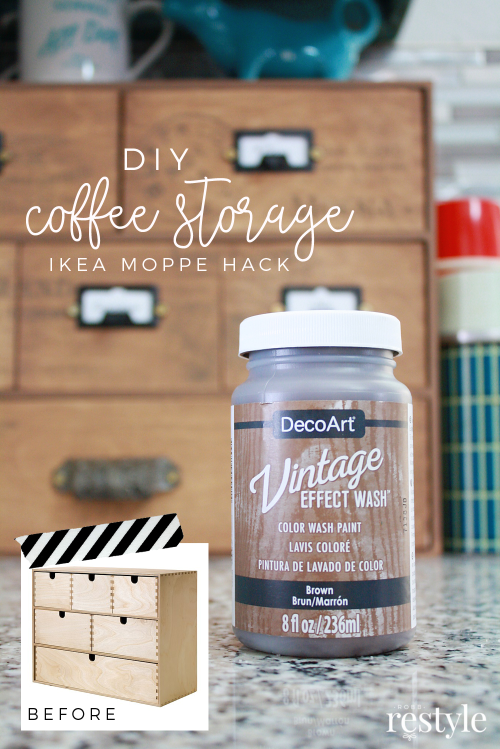 Storage Chest Ikea Ikea Moppe Hack Coffee Storage Idea Robb Restyle