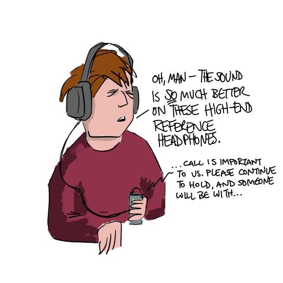 Headphones on a dude
