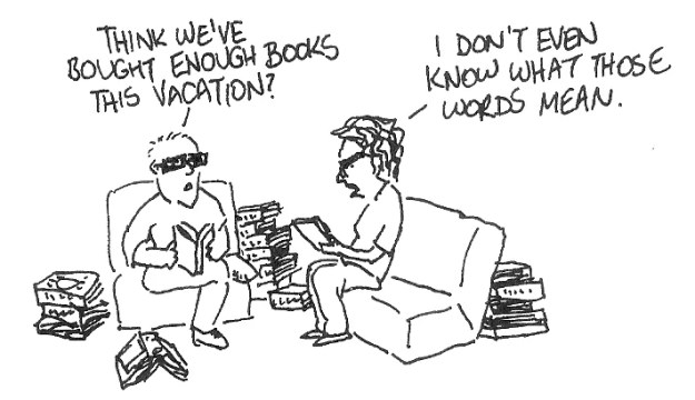"""""""Too many books""""?! What the hell does that mean?"""