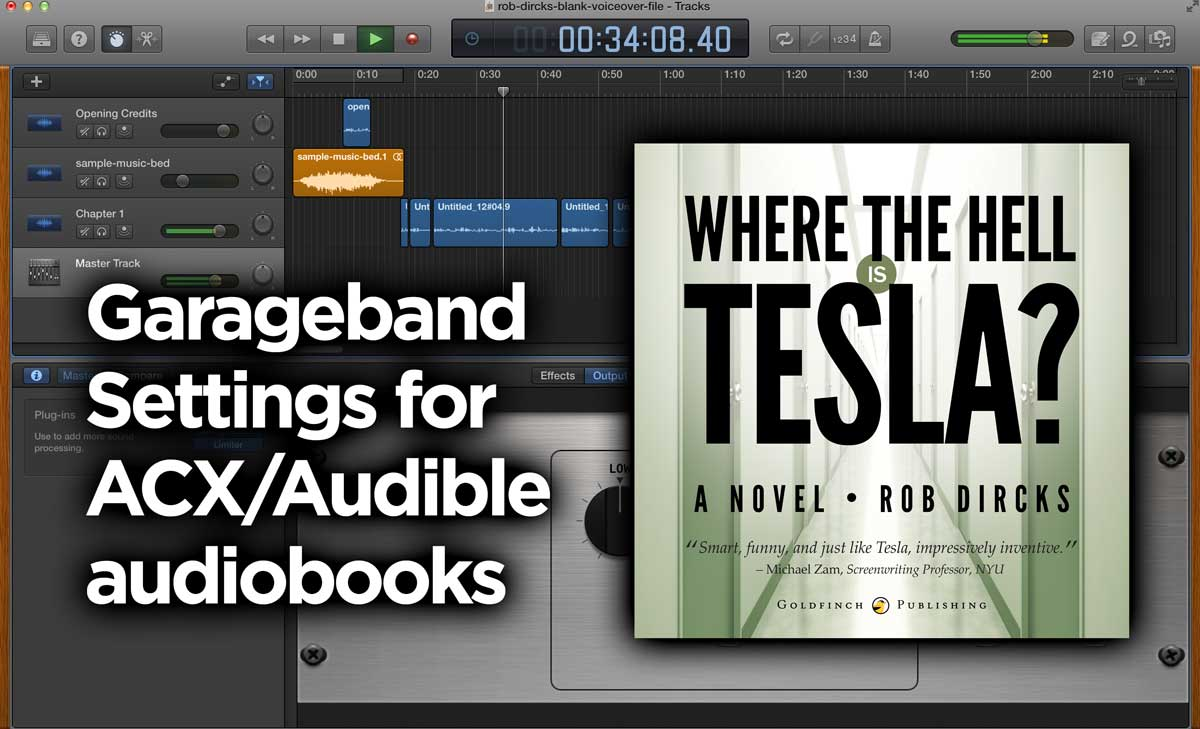Fan Garageband My Garageband Settings For Audiobooks Acx Audible Rob Dircks