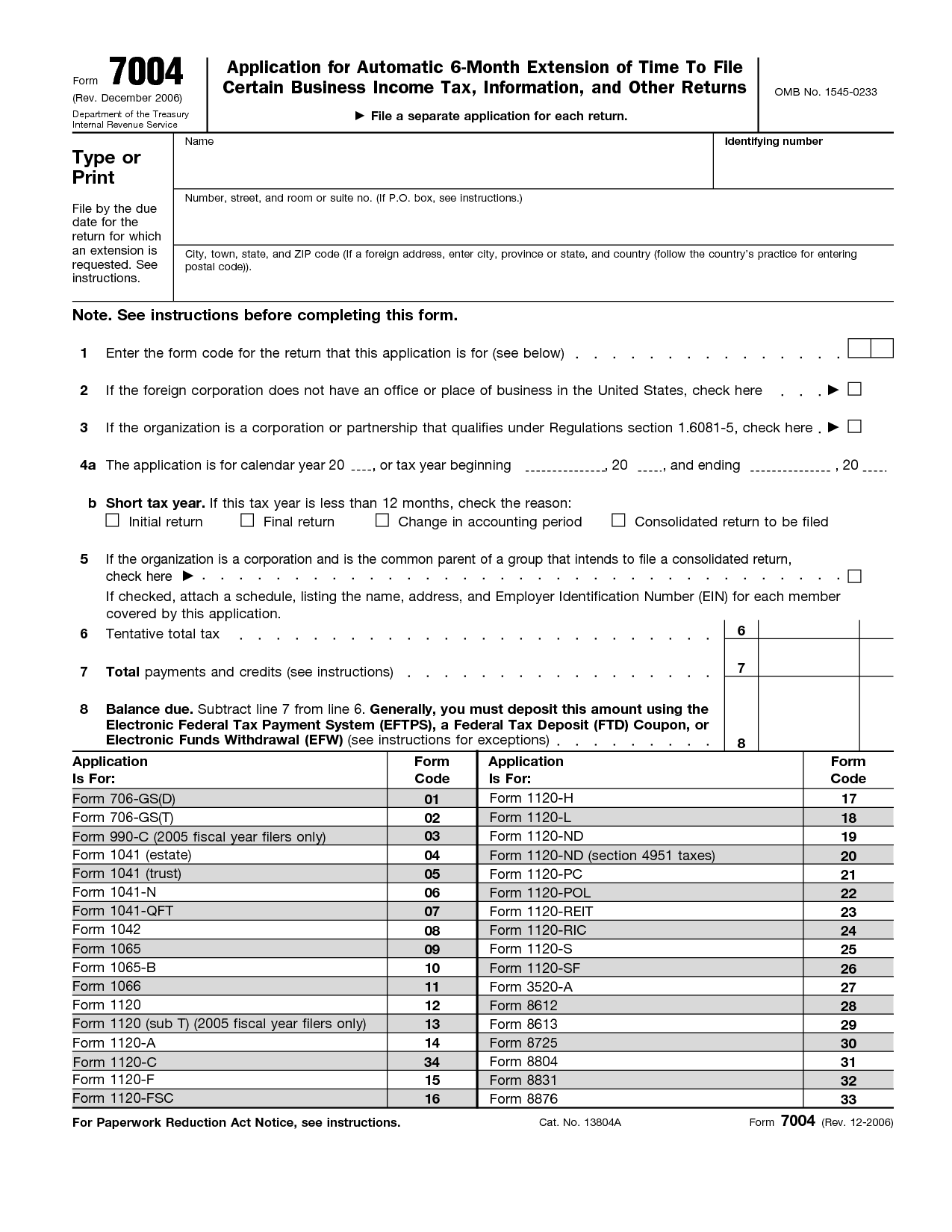 Irs Extension Form Joint Filing