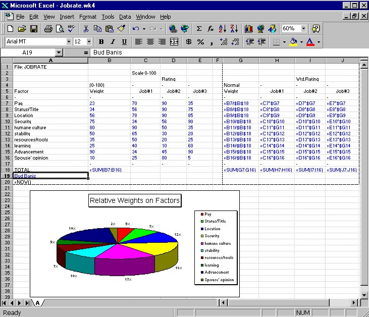 EXCEL Exercise 1 Jobrate