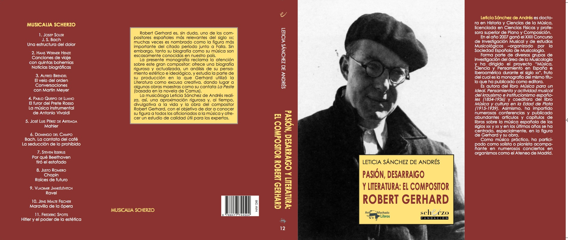 Machado Libros Roberto Gerhard Composer Official Website