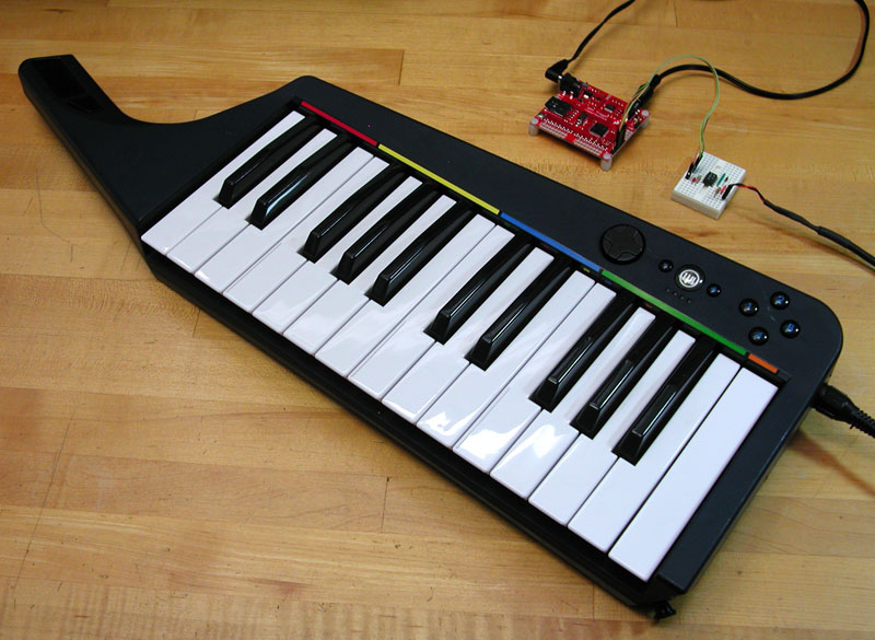 Turn the Rock Band 3 keyboard into a sampling instrument with the
