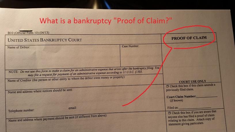 What is a bankruptcy \u201cproof of claim?\u201d robertspaynelaw My Utah