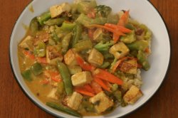 Thai tofu curry