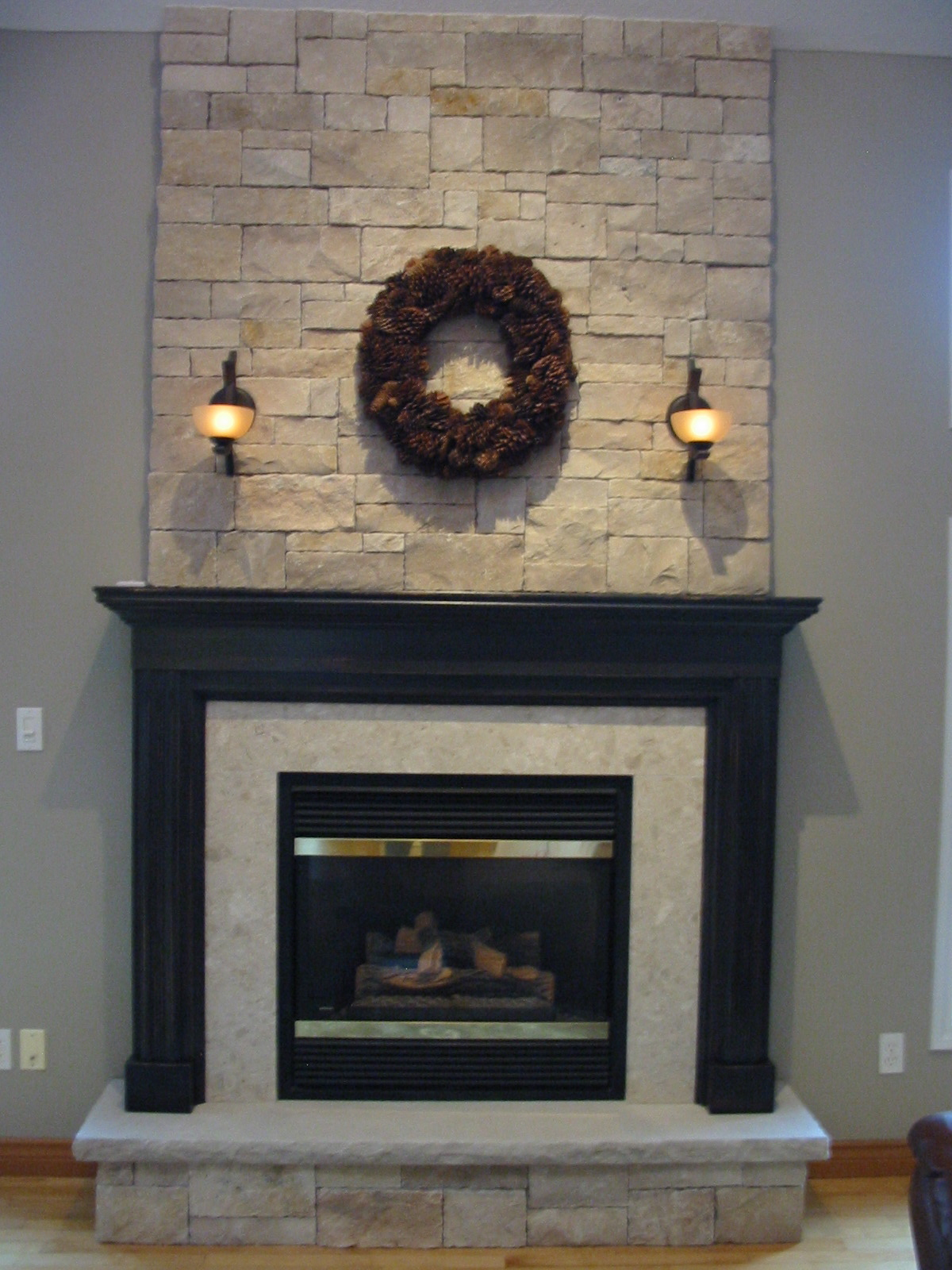 Fireplace Wall Mantels Stone Walls And Fireplaces Robin Aggus Natural Landscaping