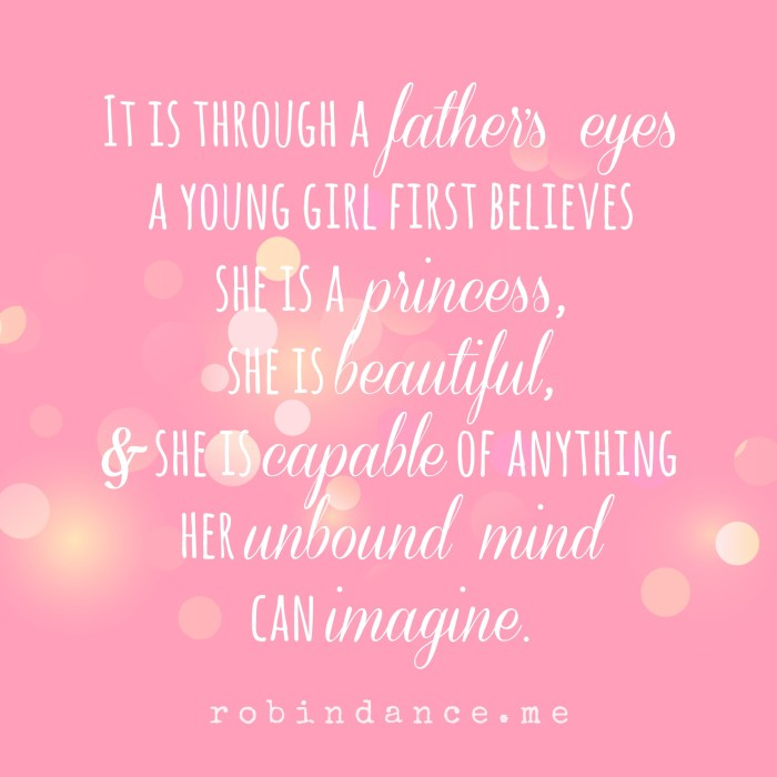 Through a fathers eyes quote - robin dance