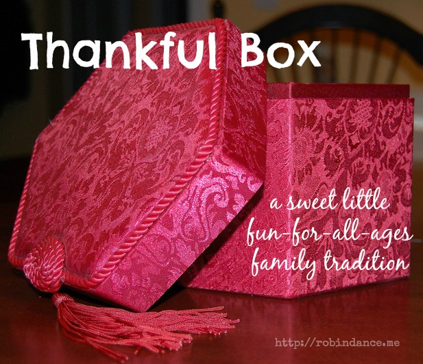 Thankful Box - A Poem by Robin Dance