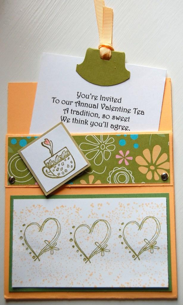Cute Valentine Tea Party Invitation
