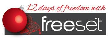12 Days of Freedom with Freeset logo