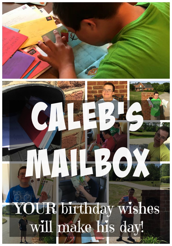 Caleb's Mailbox Collage