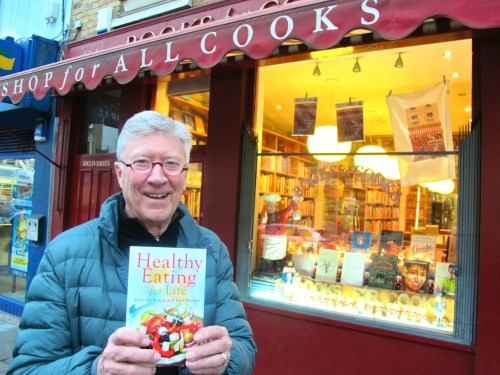 Robin outside Books for Cooks after his recent book signing