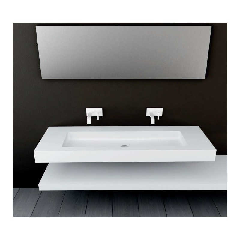 Prix Lavabo Plan Vasque Mural Blanc Mat Soho Solid Surface Vasque Xl
